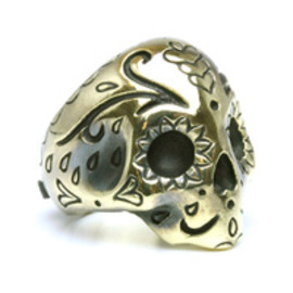 Argent Gleam - Mexican Skull Ring