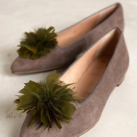 anthropologie.com - Feathered Pom Flats shoes