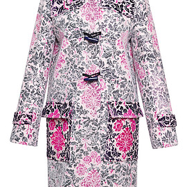 MARY KATRANTZOU - FW2015 Chantilly Duffle Coat In Rose Philippe