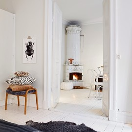 my scandinavian home - Swedish home in white. grey and brown