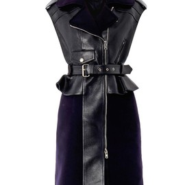 McQ, Alexander McQueen - Leather biker peplum dress