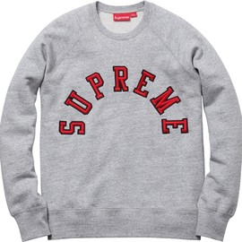 Supreme - Felt Arc Crew Heather Grey