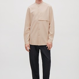 COS - Grandad-collar Shirt with Hidden Pocket