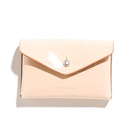 Hender Scheme - One Piece Card Case-Patent Natural