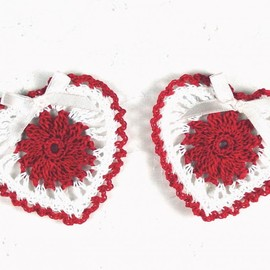 Luulla - Cute Crocheted Love Heart Appliques