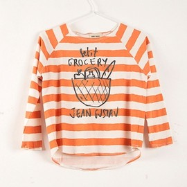 BOBO CHOSES - T-Shirt 3/4 raglan Petit Grocery