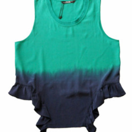 P.A.M. - Fugue State Tank Top (opal green/ink)