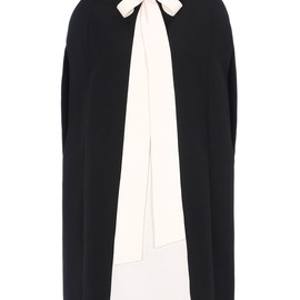 VALENTINO - CREPE COUTURE CAPE DRESS