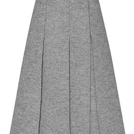 PROENZA SCHOULER - FW2015 Boiled Wool Suiting Long Skirt