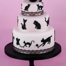 Cakes Haute Couture - black cat cake