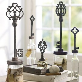 Pottery Barn - Key Topped Bottles, set of 3