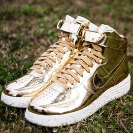 Nike - NIKE LUNAR FORCE 1 HI SP METALLIC GOLD/METALLIC GOLD-SAIL