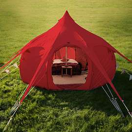 Lotus Belle - Limited Edition 16ft Lotus Belle Red Outback Tent