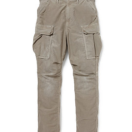 nonnative - TROOPER TROUSERS RELAX FIT C/P MOLESKIN STRETCH OVERDYED