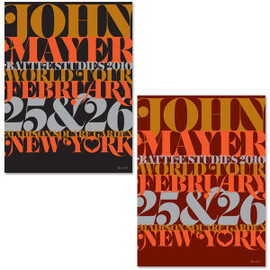 John Mayer - NYC Serigraph by House Industries
