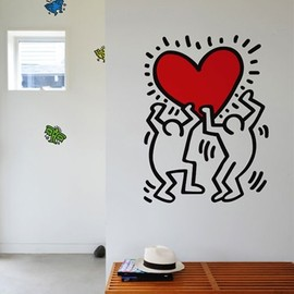 """Dancers by keith haring"" /  Wall Decals"