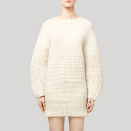 STELLA McCARTNEY - Felted Texture Virgin Wool Dress