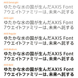 AXIS font - AXIS basic