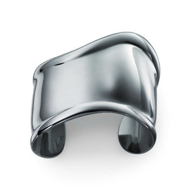 Tiffany & Co. - Elsa Peretti charcoal color Bone cuff in ruthenium, small