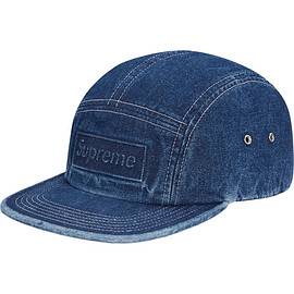 Supreme - Embossed Stone Washed Camp Cap ( Blue )