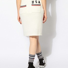 TOMMY - USA LINE KNIT SKIRT