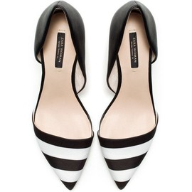 ZARA - Black And White Combination Heels ($80)