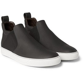 Lanvin - Full-Grain Leather High-Top Sneakers