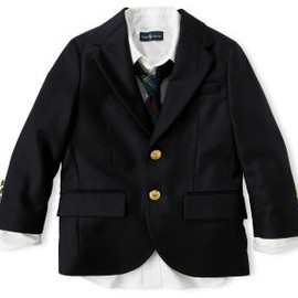 RALPH LAUREN Boyz  - School Navy Jacket