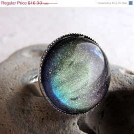 Northern Lights Ring in Silver