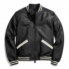 COACH - Leather Baseball Jacket