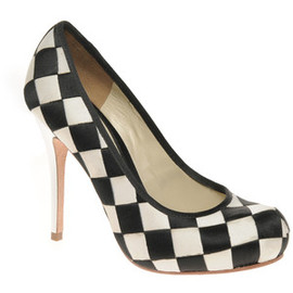 L.A.M.B - Checker Board Woven Court Shoe