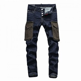 DSQUARED2 - Dsquared2 SS2018 Mens Long Jeans Sum Cloth Bags Navy Blue