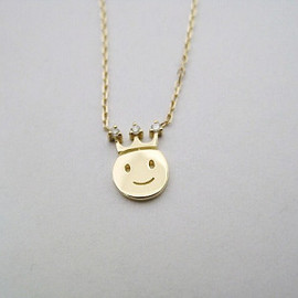 les desseins de DIEU - 18KYG Smiley Necklace