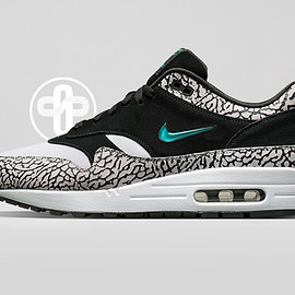 The Golden Shape, NIKE - Air Max 1 Jewel - Atmos Elephant Custom