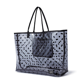 "HEAD PORTER - ""MONTAGE"" TOTE BAG (M) BLACK"