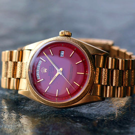 ROLEX - 1811 President Red Stella Dial