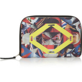 MARIO TESTINO FOR MATE - Mestiza printed canvas-twill and leather wallet