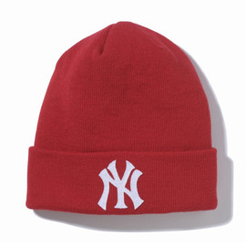 new era - NEW YORK YANKEES KNIT CAP【RED】