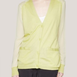 3.1 Phillip Lim - Silk-back layered cardigan