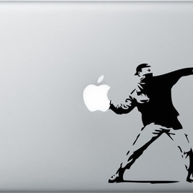 Laptop Decal Sticker Graphic - Banksy Molotov Guy Vinyl Decal Vinyl Macbook