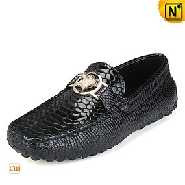 cwmalls - Mens Embossed Leather Driving Moccasins CW715019