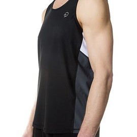 Only Atons - Cool Men's Running Singlet - Black Grey