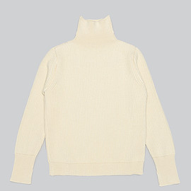 Andersen-Andersen - The Navy Turtle Neck Knit-Off White