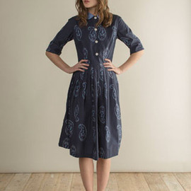 TOAST - PAISLEY PLEATED SHIRT DRESS