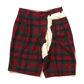 COMME des GARCONS - Checkered Pattern Wool Shorts
