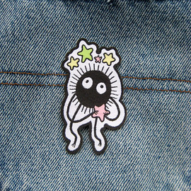 HannahHitchman - Studio Ghibli Soot Sprite Iron on Patch