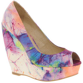 ALDO - Brindamour Printed Peep Toe Wedges
