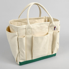 Hickorees - UTILITY TOTE, NATURAL/GREEN