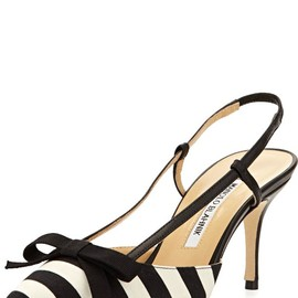 Manolo Blahnik - Striped Halter Pump