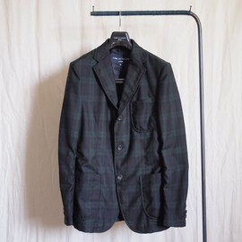 COMME des GARCONS HOMME - Wool Serge 縮絨Jacket #navy×green